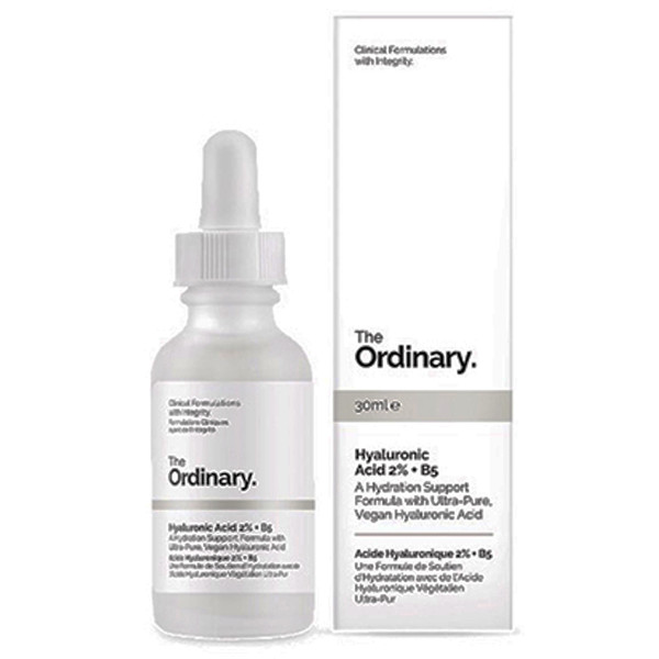 The Ordinary is good for glowing skin by using hyaluronic acid to give your skin some bounce.